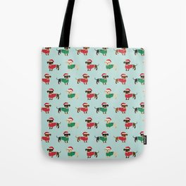 Doxie Christmas Sweaters cute dachshund pattern print dog gifts Tote Bag