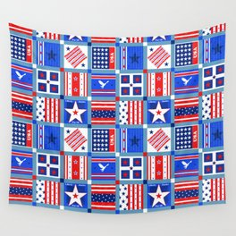 4th July Patchwork Wall Tapestry