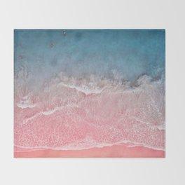 Bahamas pink blue Throw Blanket