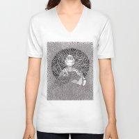 ninja turtle V-neck T-shirts featuring Ninja Turtle by OKAINA IMAGE
