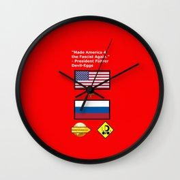 Made America 4 the Fascist Again Wall Clock