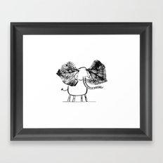 Ink elephant Framed Art Print