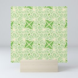 Cute Clover Lattice Pattern  Mini Art Print