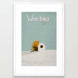 "WHY ME!!! ""Snow plow…"" Wezteka Union. Framed Art Print"