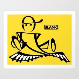 BLANKM GEAR - PIANOMAN T SHIRT Art Print