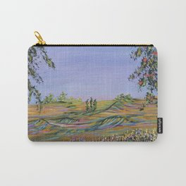 peach tree valley 2, modern impressionism art, landscape art Carry-All Pouch