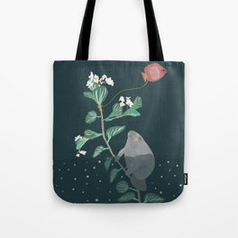 The manatee decided to run away Tote Bag