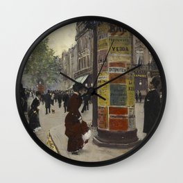 Jean Beraud - Paris Kiosk Wall Clock