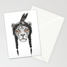 Warrior lion Stationery Cards
