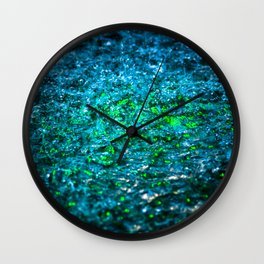 Water Color - Green Wall Clock