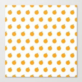 Orange Repeat Pattern Canvas Print