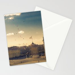 Ballons on Palace Square, St. Petersburg Stationery Cards