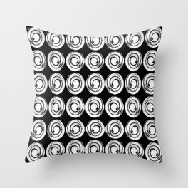 Circle design in black and white Number  9 Throw Pillow
