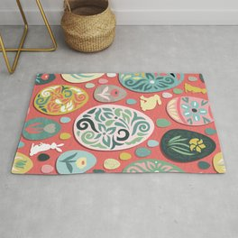 paper easter eggs and bunnies Rug