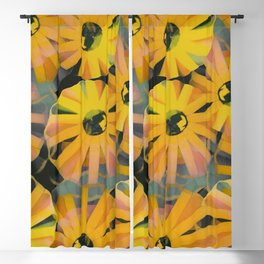 Pine Sunflower Sirocco Blackout Curtain