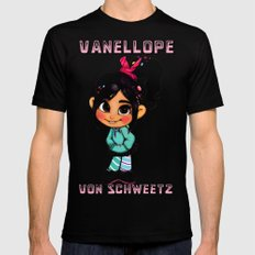 Vanellope II SMALL Black Mens Fitted Tee