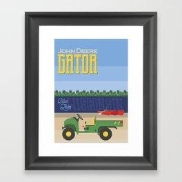 Gator in Wisconsin Framed Art Print