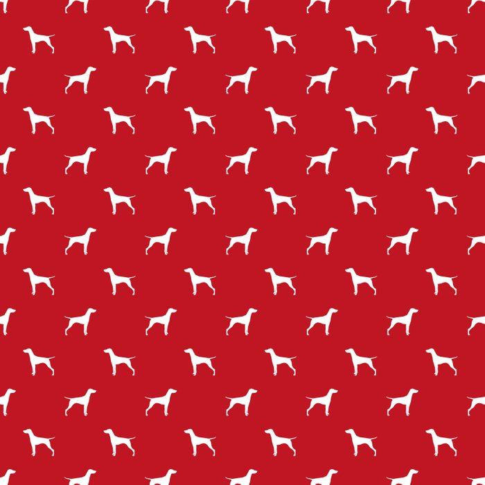 Vizsla minimal basic red and white dog pattern dog art pet portraits dog breeds Duvet Cover