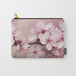 Soft Pink Cherry Blossom Carry-All Pouch