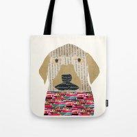 labrador Tote Bags featuring the labrador by bri.buckley