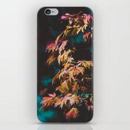 Moody Autumn Leaves iPhone Skin
