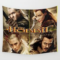 hobbit Wall Tapestries featuring Hobbit by custompro