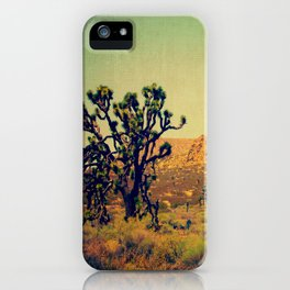 Joshua Trees in the California Desert iPhone Case