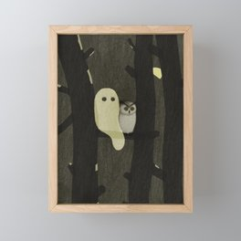 Little Ghost & Owl Framed Mini Art Print