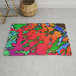 Shattering red tigers Rug