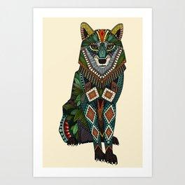 wolf ivory Art Print