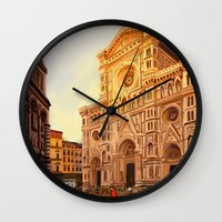 florence Wall Clocks featuring Florence by Sara Cooley
