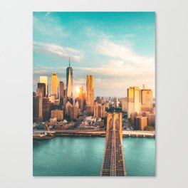 New York from Brooklyn Canvas Print