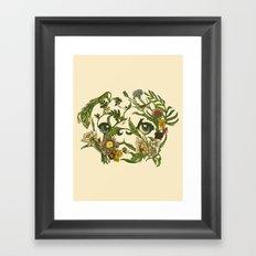 Botanical Pug Framed Art Print