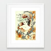 """courage Framed Art Prints featuring """"Courage"""" by Cat De Pillar"""