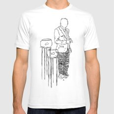 Look at my Fish White Mens Fitted Tee MEDIUM