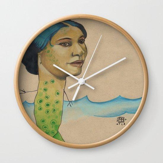 LONELY MERMAID Wall Clock