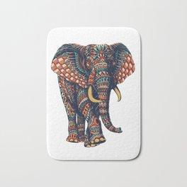 Ornate Elephant v2 (Color Version) Bath Mat