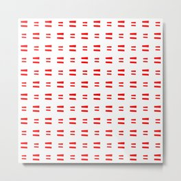 flag of austria 8 Handmade Metal Print