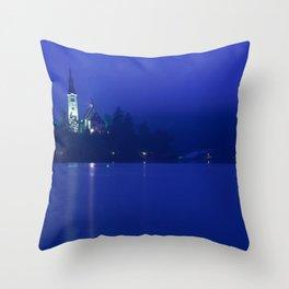 Lake Bled Slovenia Throw Pillow