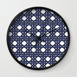 trellis glamazon in black Wall Clock