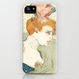 """Henri de Toulouse-Lautrec """"Mademoiselle Marcelle Lender, en Buste"""" iPhone Case"""