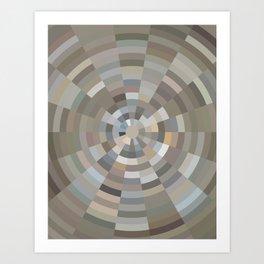 Radiating Muted Tones Art Print