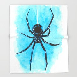 Diamond spider Throw Blanket