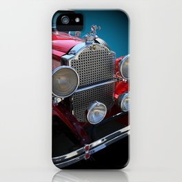 Vintage Red Touring Automobile iPhone Case