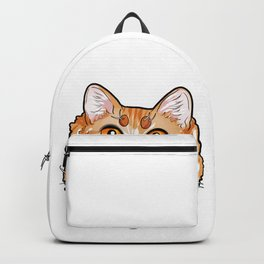 LaPerm Cat Cats Kitty Cartoon Comic Love Gift face Backpack