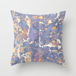 Complementary Paint Marble Throw Pillow