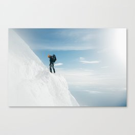 Climber in the Clouds Canvas Print