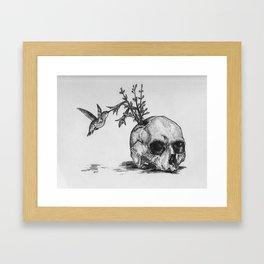 The Bird Feeder Framed Art Print