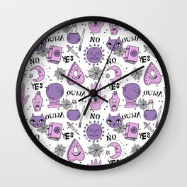 Ouija halloween potions crystal ball witch magic sorcerer pattern by andrea lauren Wall Clock