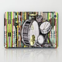 drum iPad Cases featuring Drum Kit by JustinPotts